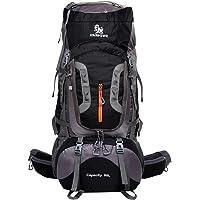 Genda 2Archer 80L Waterproof Nylon Travel Backpack Hiking Daypack