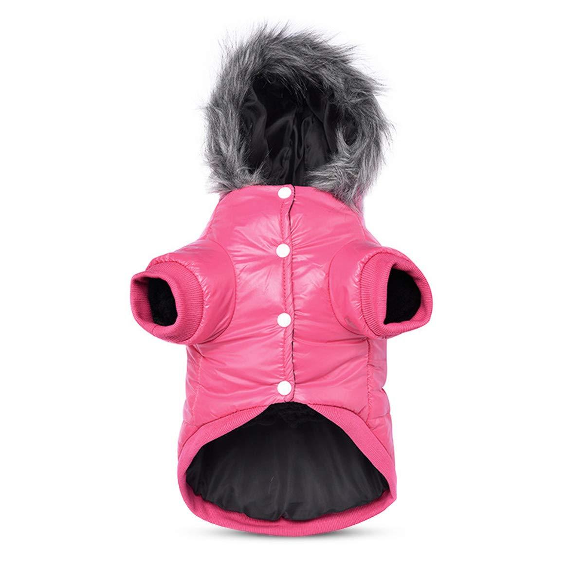 PETCUTE Cappotto invernale per cani, abbigliamento invernale per cani, giacca in felpa calda per cane, antivento e impermeabile, tuta invernale per cani