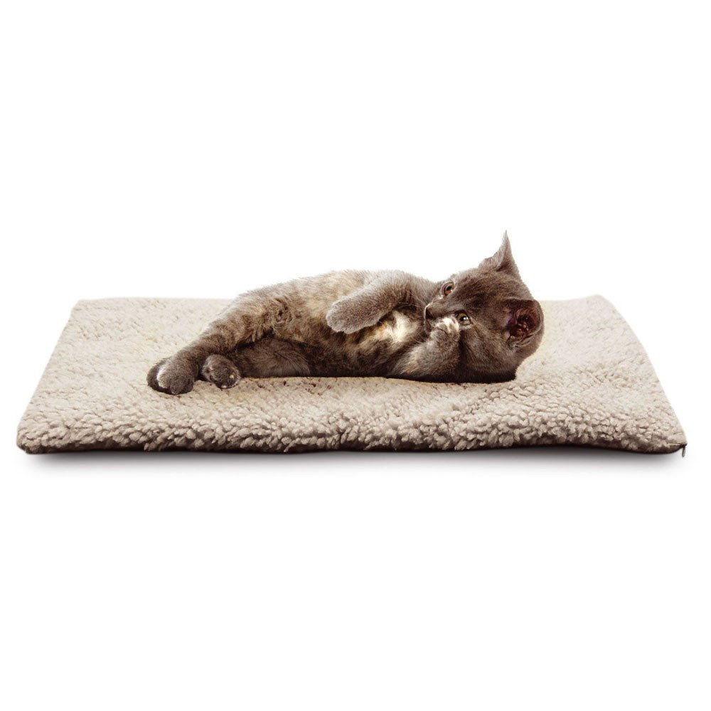 callm Self Heating Dog Cat Pet Bed Thermal Washable No Electric Blanket Required (White, 64cm x 46cm) by callm (Image #6)