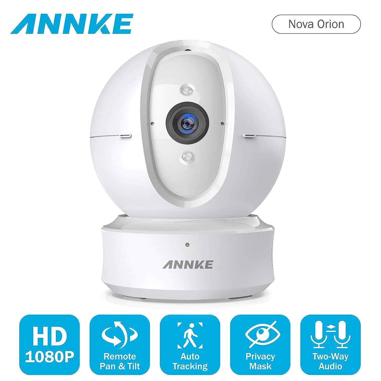 Annke Occasion 1080P Caméra de Surveillance sans Fil Panoramique - Used Caméra IP WiFi pour la Surveillance - Caméra de Sécurité Audio Bidirectionnel Clair,Vision Nocturne Etonnante Nouveauté