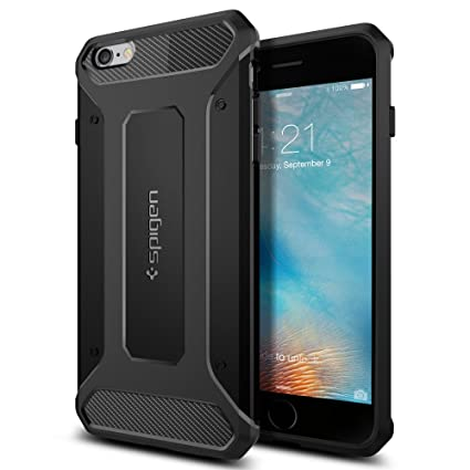 Spigen Rugged Capsule Designed for Apple iPhone 6S Plus Case (2015) - Black