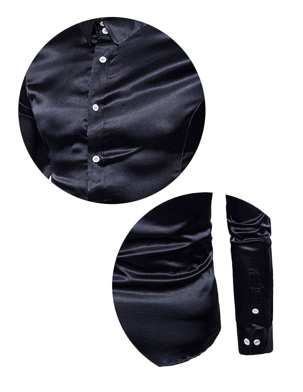 Boom Fashion Uomo Camicie Slim Fit Moda Manica Lunga Camicia Elegante Tops