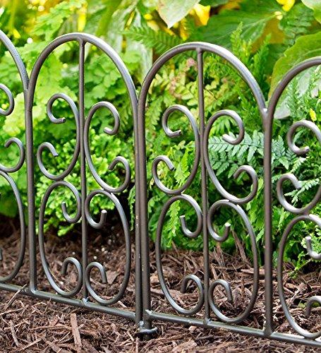 Amazon.com : Wrought Iron Edging Panels In Montebello Design : Garden U0026  Outdoor