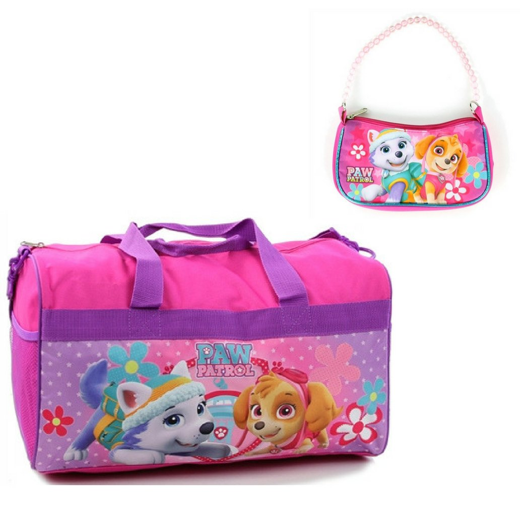 Paw Patrol Duffel Bag and Zipper Handbag Bundle Gift Set