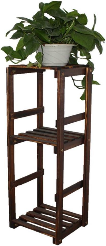 Life Pergolas - Soporte de Madera para macetas de 2 estantes, para Interiores y Exteriores, Soporte para Flores, Color marrón: Amazon.es: Jardín