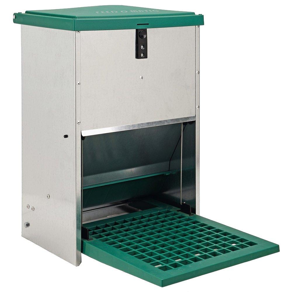 Olba Futterautomat Feedomatic 12kg mit Trittplatte für 12kg Futter, Geflügel-Futterautomat, Hühnertrog, Futtertrog Geflügel-Futterautomat Hühnertrog 2075361