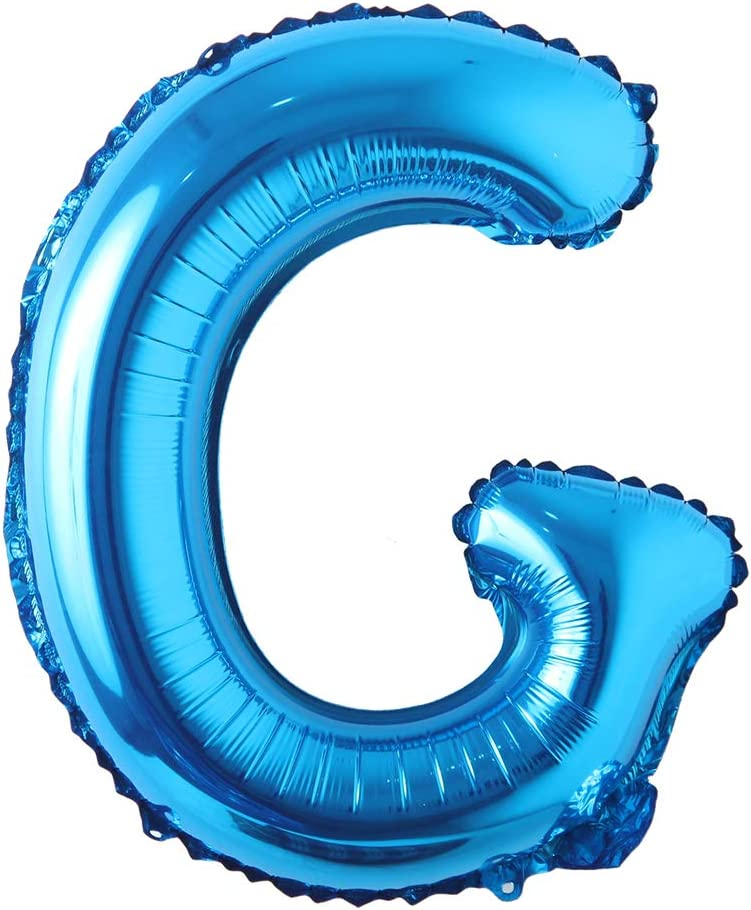 16 Inch Single Blue Alphabet Letter Number Balloons Aluminum Hanging Foil Film Balloon Wedding Birthday Party Decoration Banner Air Mylar Balloons 16 Inch Pure Blue G Health Personal Care Amazon Com