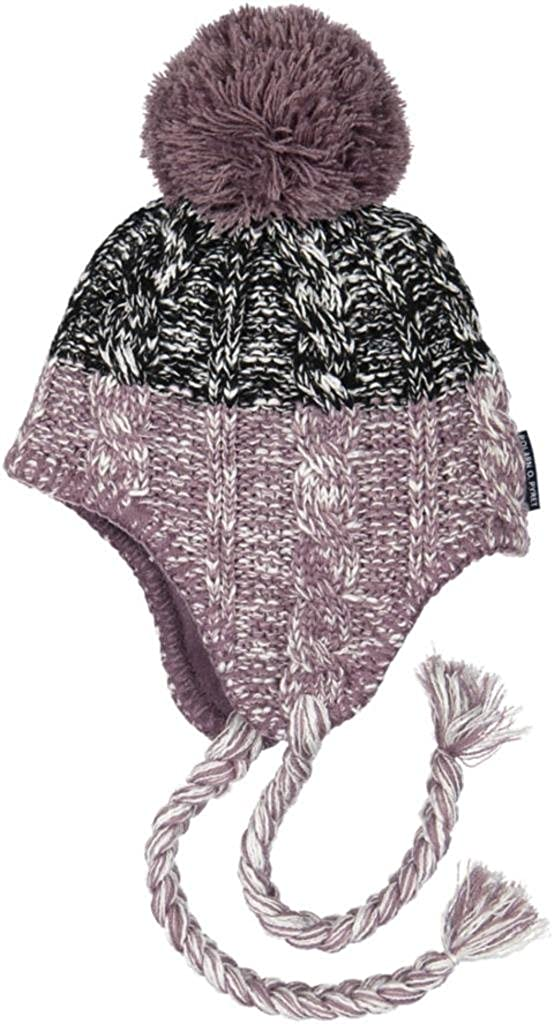 Amazon.com  Polarn O. Pyret Cable Knit Beanie (Baby) - 4-9 Months Black  Plum  Clothing 73357f37d07