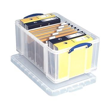 Really Useful cajas de almacenamiento, re-stackable 64 litros cajas de almacenamiento 1 Box: Amazon.es: Oficina y papelería