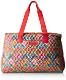 Vera Bradley Women's Triple Compartment Travel Bag, Paisley in Paradise Red