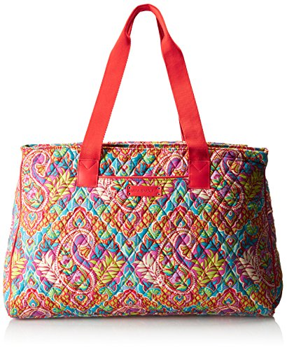 Vera Bradley Women's Triple Compartment Travel Bag, Paisley in Paradise Red by Vera Bradley (Image #6)