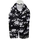 Kolylong Lady Womens Long Cute Elephant Print Scarf Wraps Shawl Soft Scarves