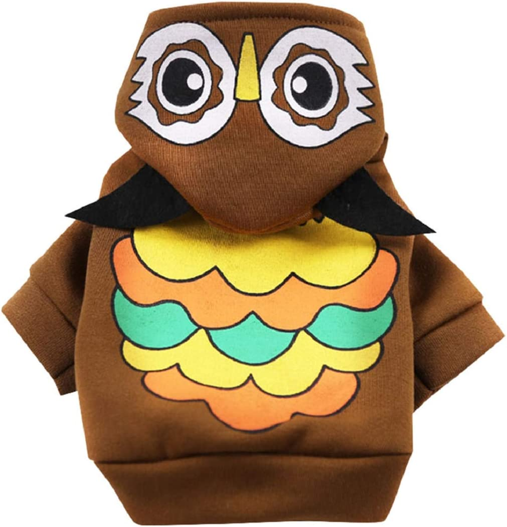 Aonember Dog Hoodies Sports Clothes Warm Sweatshirt Dog Coat Cute Puppy Dog Clothing Warm Dog Outfits Brown
