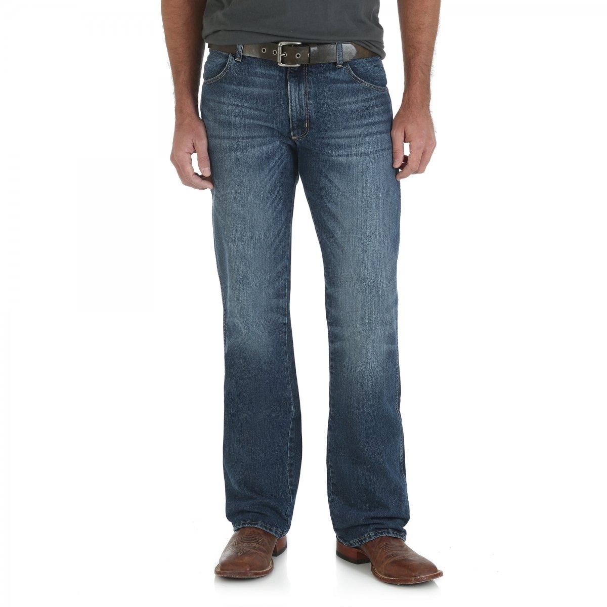 Wrangler Men's Retro Slim Fit Boot Cut Jean, Scottsdale, 34W x 32L