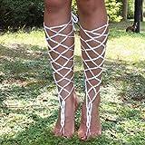 ALABAR-Handmade-Cotton-Lace-Up-Crochet-Barefoot-Sandals-Sexy-Wedding-Beach-Accessory-Dancing-Anklets-AQ08