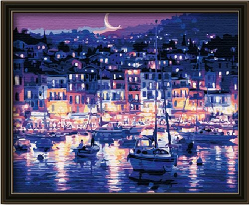 DIY Painting, Paint By Number Kit- Quiet Moonlight 16*20 Inch.