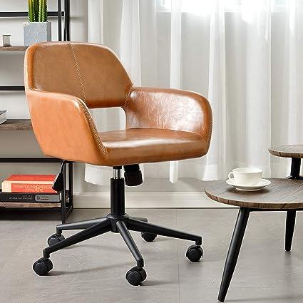 Aingoo Vintage Office Chair Mid Back Swivel/Rolling/Tilting Accent  Adjustable Computer Desk Armchair