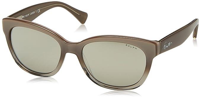 RALPH Womens 0RA5219 15826G Sunglasses, Grey Gradient/Grey/Silvermirror, 56 Ralph Lauren