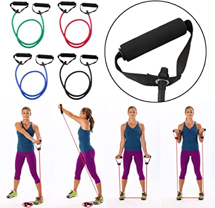Exercise Resistance Bands Tube Workout Gym Yoga Fitness Stretch Elastic String
