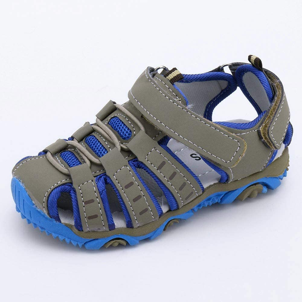 SolwDa Sneakers of Children Kids Boy Girl Closed Toe Summer Beach Sandals Shoes Flat Casual Size 11 Trainers