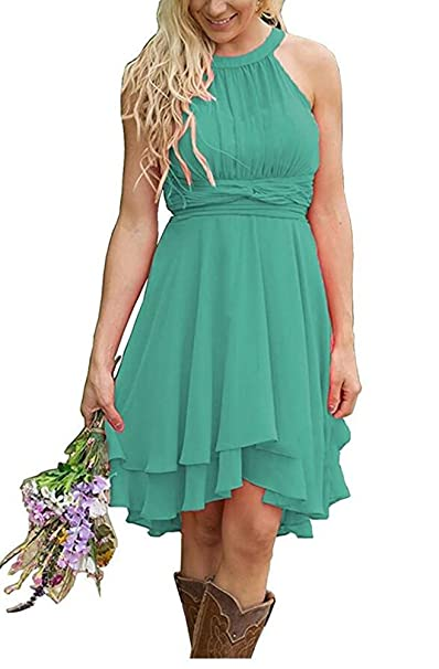 Aokaixin Plus Size Short Country Bridesmaid Dresses Western ...