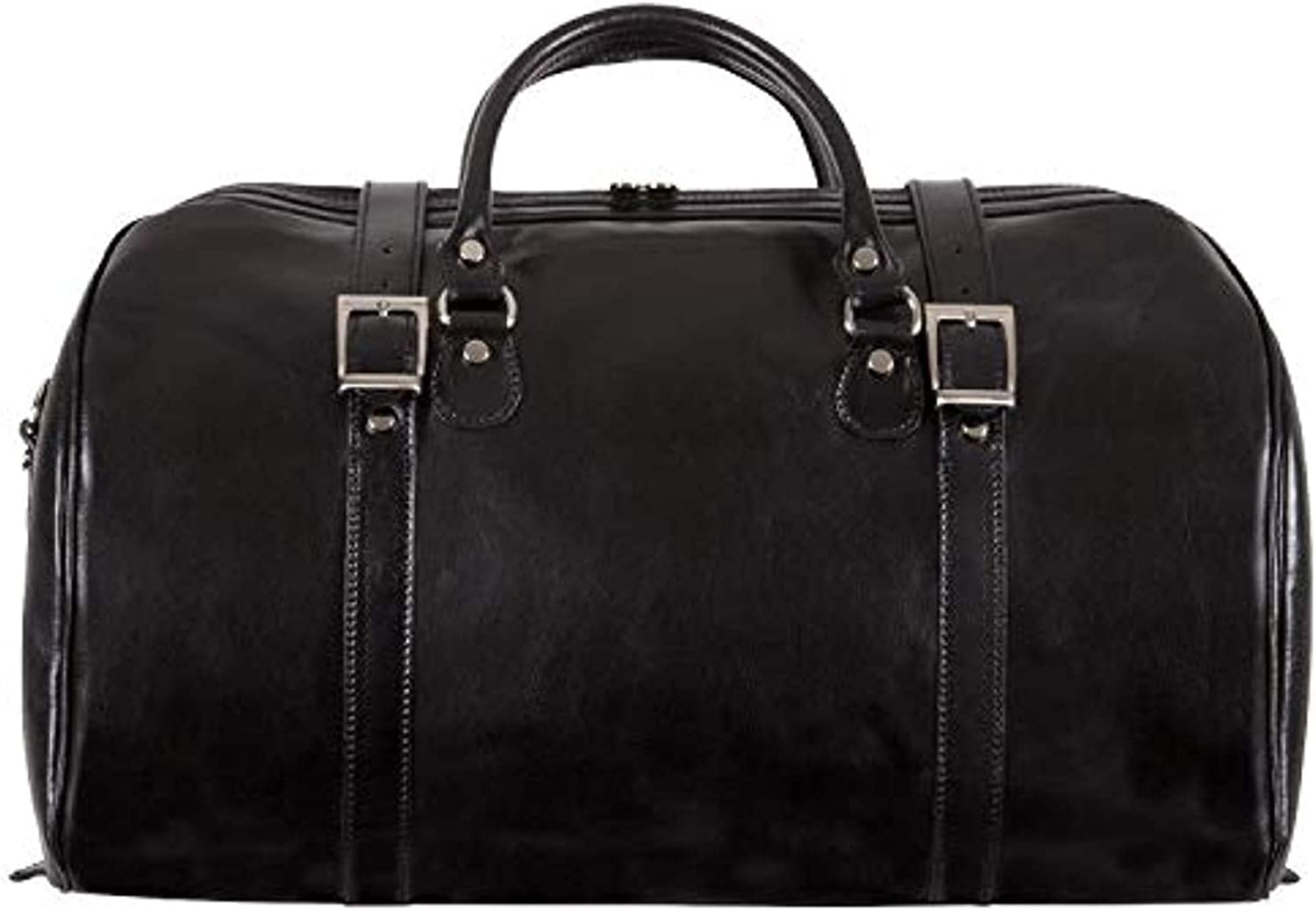 Alberto Bellucci Italian Leather Carry-on Tourist Duffel Bag