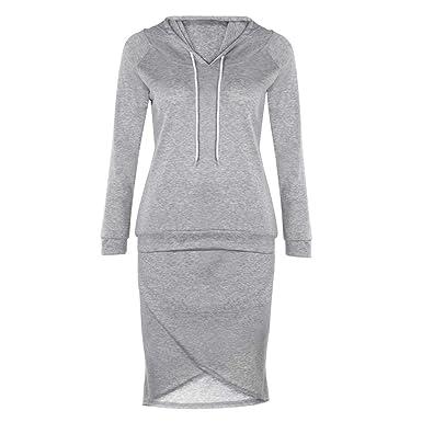 ZEZKT Sportswear Femme - Sweats à Capuche + Jupes de Sport Court 2 Pièce  Ensembles Sportswear a784ac092f4