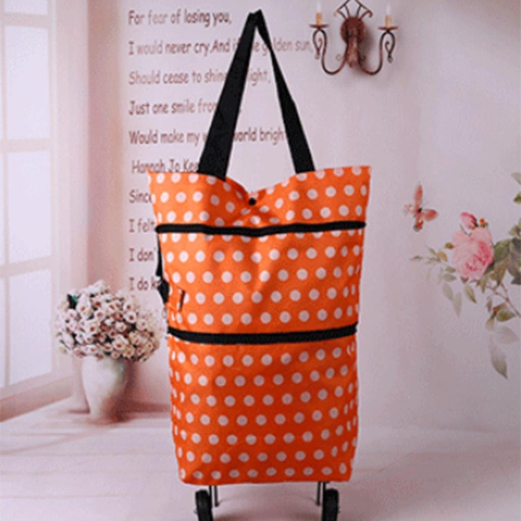 MOXIN Shopping cart Oxford cloth with wheels folding shopping bags , 25l