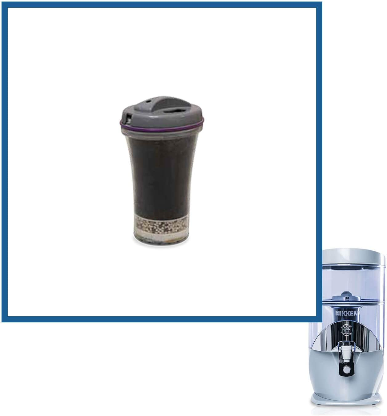 Nikken Waterfall 1 Filter Cartridge 13845 - Replacement for Gravity Water Filter Purifier System 1384 - PiMag Water System Components - Helps Body Recover from Acidity - Up to 45 liters of Water a Day: Home & Kitchen