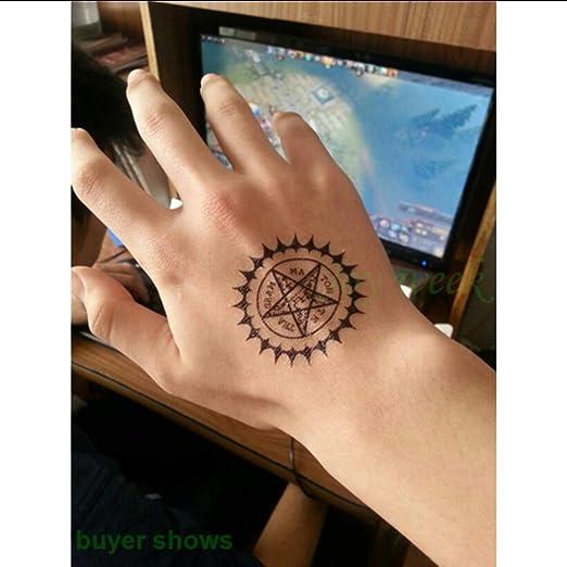 tzxdbh A Prueba de Agua Etiqueta Engomada del Tatuaje Temporal ...