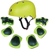 F&U Enfants Youth Sports équipement de Protection avec Ensemble de Casque Coude Genou Poignet de sécurité Pad Safeguard pour Roller Vélo BMX Vélo Skateboard Hoverboard activités de Plein air