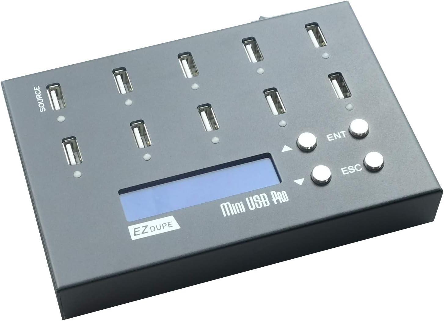 EZ DUPE 1 to 9 Mini USB Pro Duplicator Standalone USB Flash Drive and USB Hard Drive Duplicator Copier Eraser (DM-FU0-10V09B)