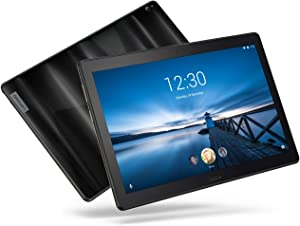 """Lenovo Smart Tab P10, 10.1"""" Alexa-Enabled Android Smart Device Tablet, Octa-Core Processor, 1.8GHz, 32GB, Dual Glass Design, 4 Speakers, Charging Dock incl, Android Oreo, ZA440145US, Aurora Black"""