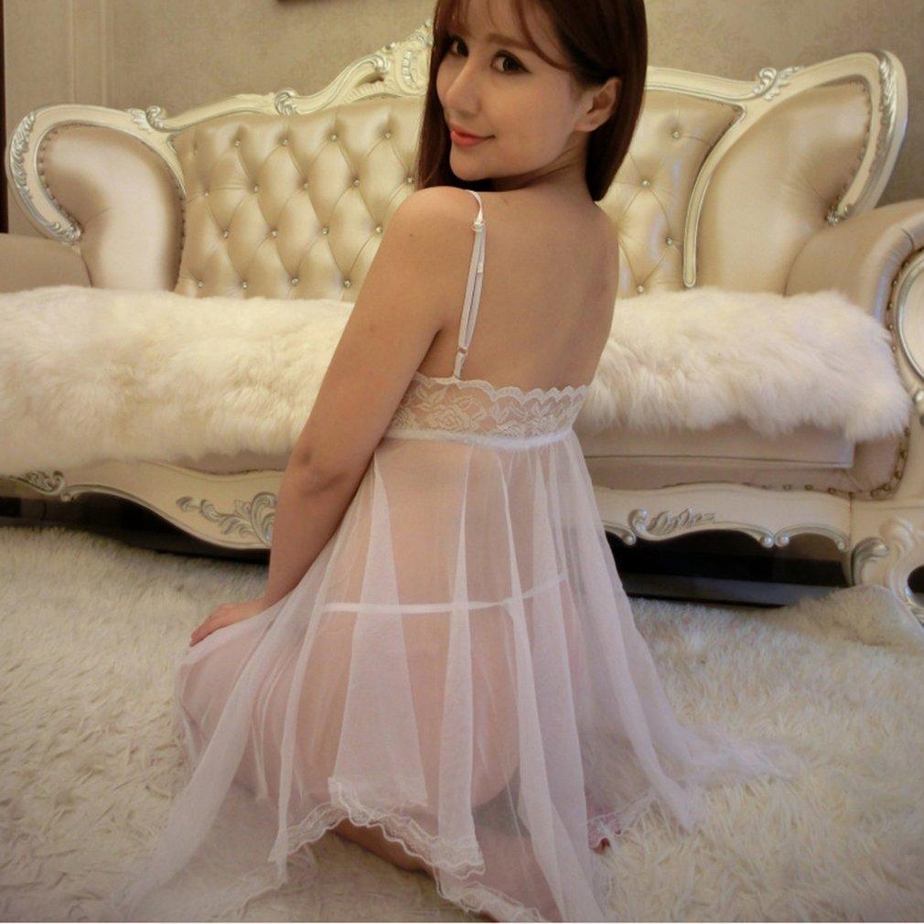 GeeHaoo Big Swing Sexy Lace Perspective Night Skirt Beautiful Figure Highlighting