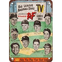 1953 Big League Stars and PF Canvas Shoes Vintage Look Reproduction Metal Tin Sign 12X18 Inches