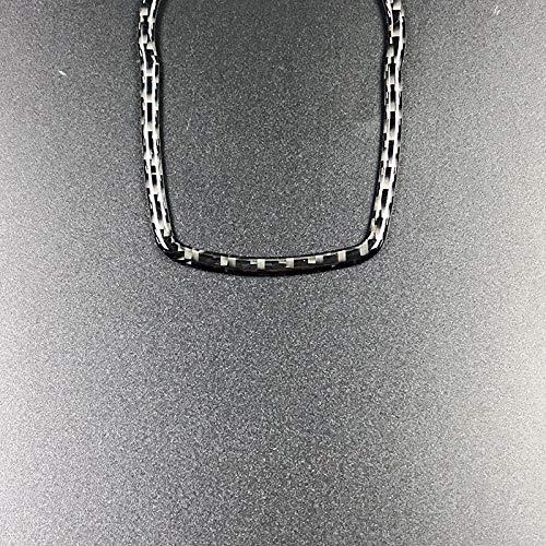 CUHAWUDBA Fibra De Carbono del Coche para Boton Multimedia Cubierta De Marco Perilla De Ajuste para F10 F20 F30 F34 F07 F25 F26 F15 F16 Accesorios Negro