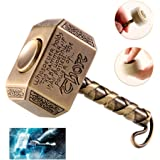 Wiitin Thor's Battle Hammer Fidget Hand Spinner Made by Metal, the Mighty Mjolnir Toy - Antique Brass
