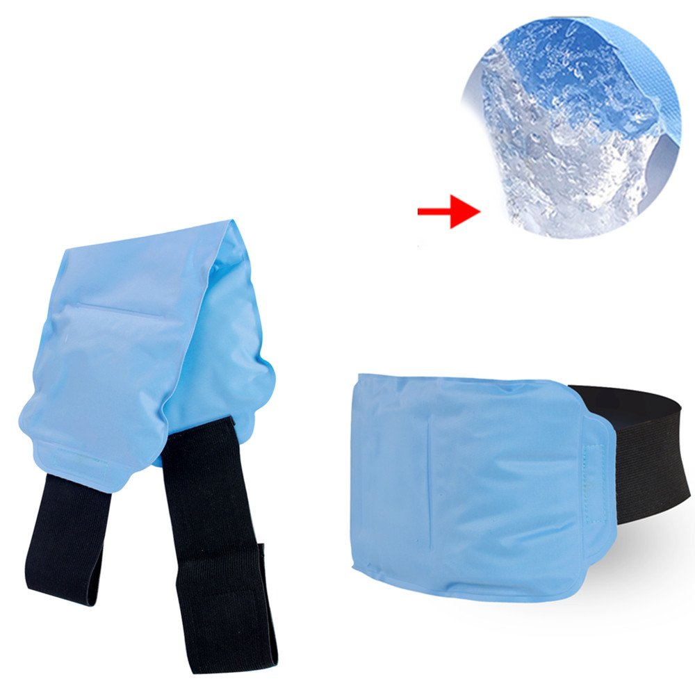Zinnor Gel Cold Ice Pack Reusable Hot & Cold Therapy Wrap Support Injury Recovery, Joint and Muscle Pain Relief for Knees, Back, Hand, Foot, Wrist, Elbow