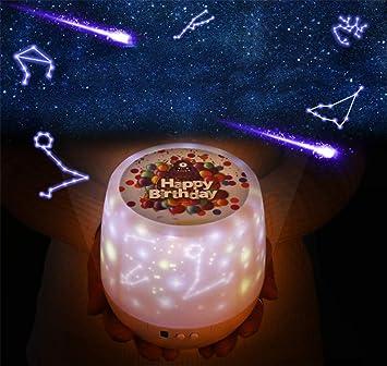Proyector lámpara 360 Grados Rotación 6 Modo de Luz 3 Ajustes de ...