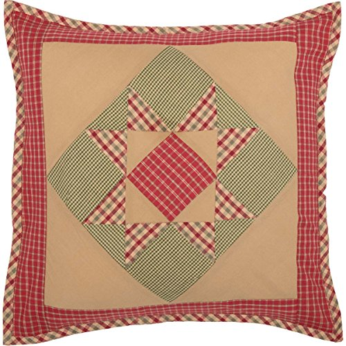 VHC Brands Primitive Holiday Throws-Dolly Star Tan Patchwork 18