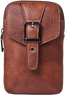 Kimruida uomini marsupio da cintura tasca del telefono borsa custodia sport borsa a tracolla, Uomo, Brown, Taglia unica