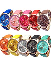 Women's Wholesale 10 Assorted Platinum Watch Fashion Quartz Watch