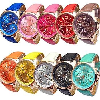 Womens Wholesale 10 Assorted Platinum Watch Fashion Quartz Watch