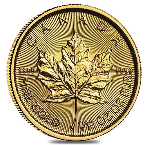 Royal Mint Gold Coins - Canada (1/10 oz) Gold Maple Leafs - Random Year