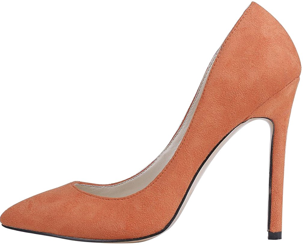 Calaier Mujer Cacrossing Tacón De Aguja 10CM Sintético Ponerse Zapatos de tacón 41.5|Naranja