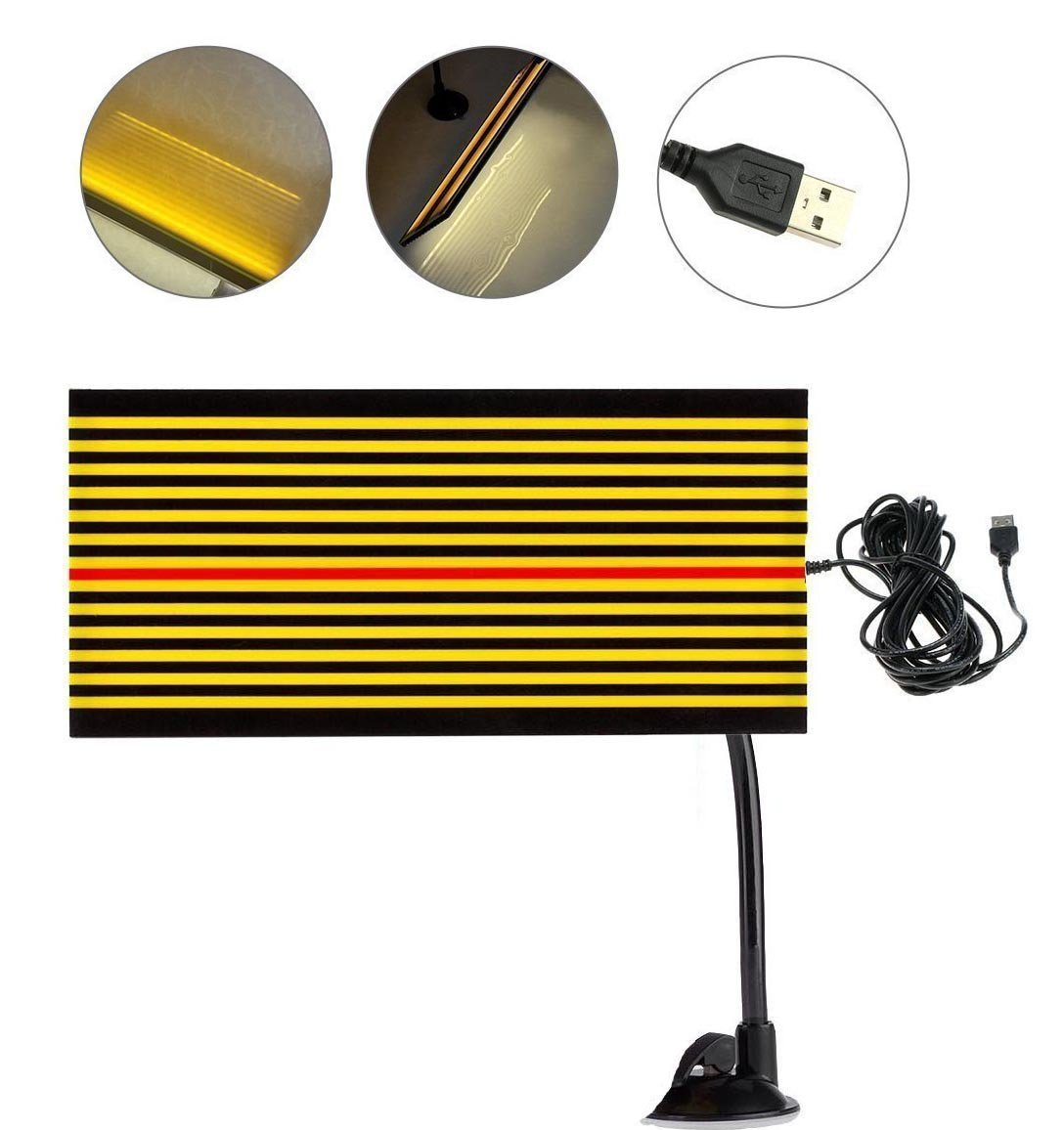 GS PDR Led Reflector Stripe Line Board Paintless Dent Removal Repair Tools with 5m Long USB Cable and Ajustment Holder Yellow light