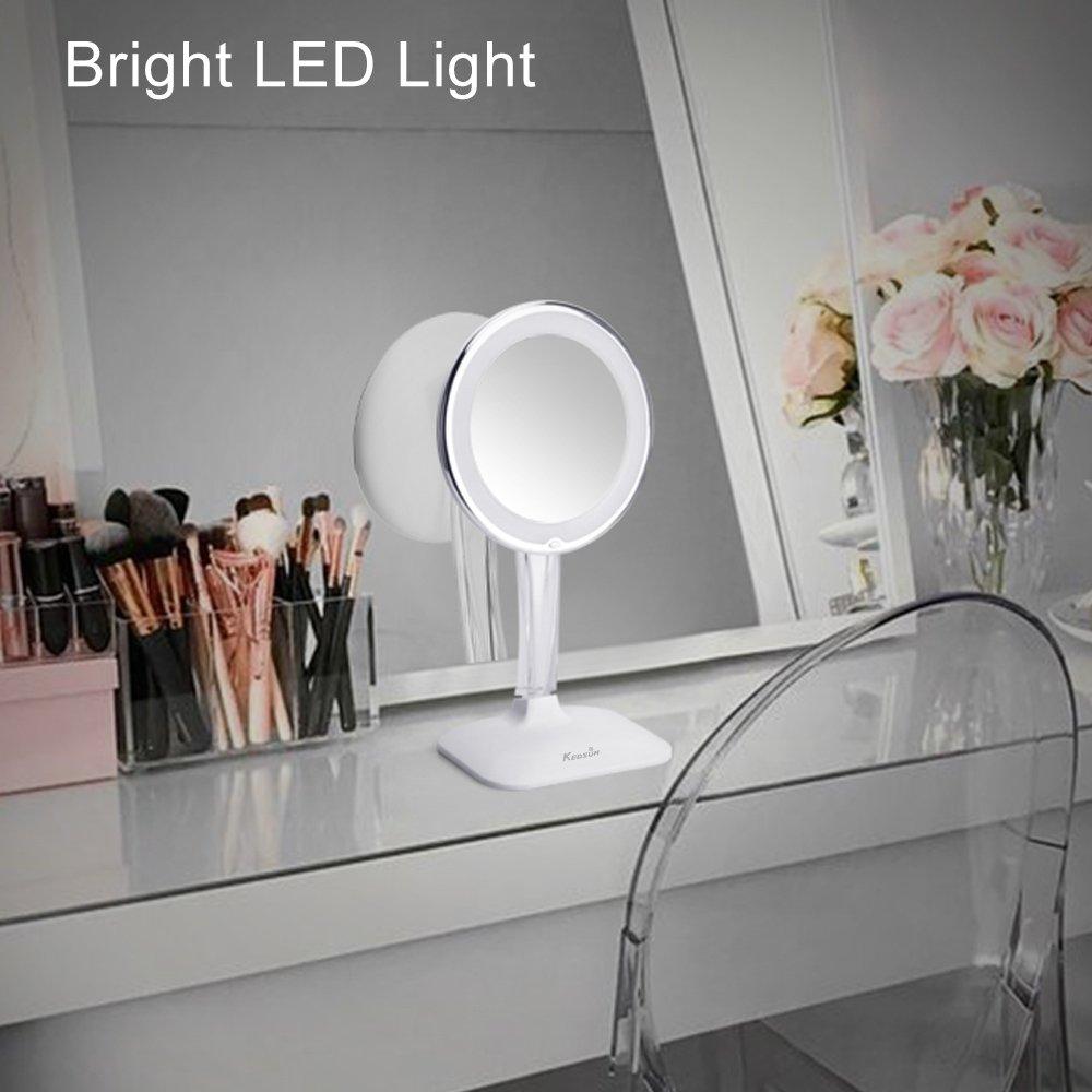 Kedsum 10x Magnifying Lighted Makeup Mirror Desktop Vanity Mirror