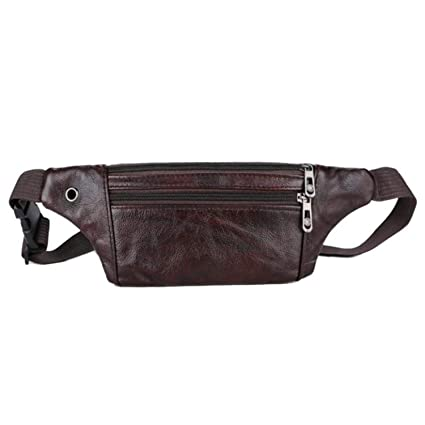 Amazon.com: Men Money Bag Belt Fanny Pack Waist Bag Zipper ...
