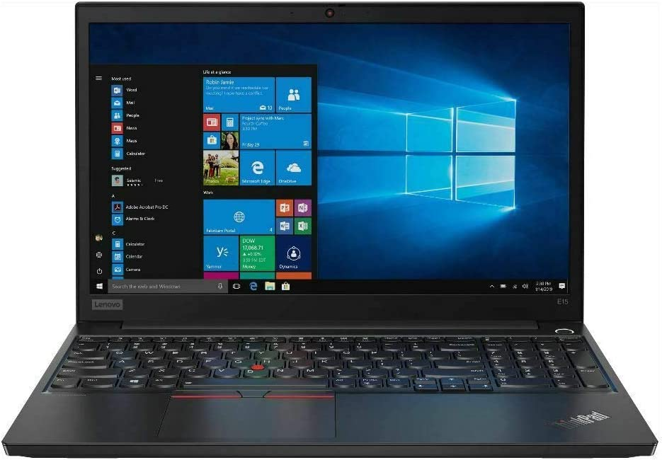 "Newest Lenovo Thinkpad E15 15.6"" FHD IPS Business Laptop, 10th Gen Intel Quad-Core i5-10210U Upto 4.2 GHz, 8GB RAM, 256GB PCIe SSD, Fingerprint Reader, USB-C, Windows 10 Pro"