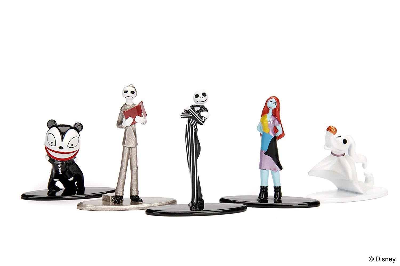 Scary Teddy Bundle NBXMS Jacks Nightmare House Before Christmas Skellington Scene Display 5 Mini Figure Nano Metal Character Collection Trick or Treat in Halloweentown with Sally Zero
